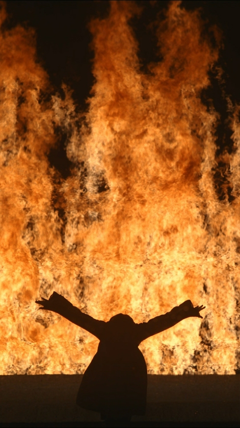 Bill Viola, Fire Woman, courtesy of Bill Viola Studio
