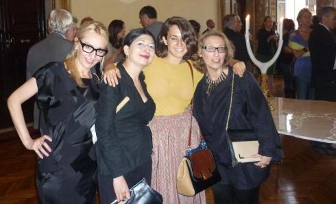 Emanuela Nobile Mino, me, Delfina Delettrez and Elisabetta Facco