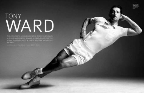Tony Ward, photo by Paul Scala. The iconic model, bright visual artist, ...