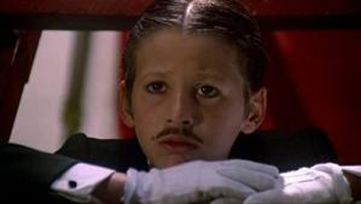 "Adan Jodorowsky as child, still image from ""Santa Sangre"" by Alejandro Jodorowsky"