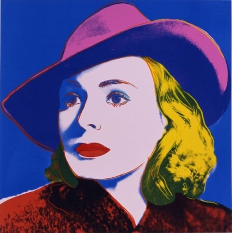 Ingrid Bergman by Andy Warhol