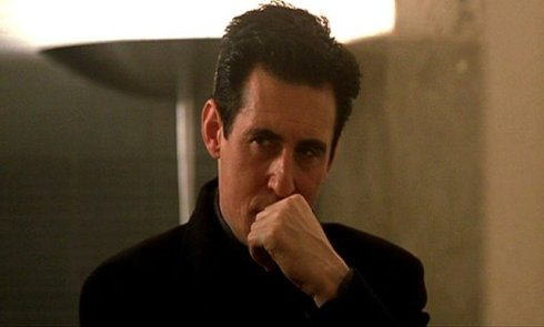 Gabriel Byrne as Satan in Armani, still image from the movie  End of days