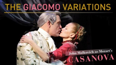 "John Malkovich and Ingeborga Dapkünaité in ""The Giacomo Variations"""