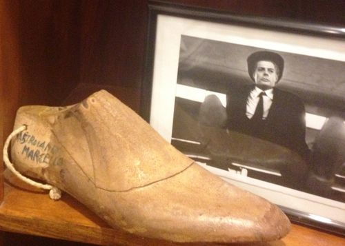 The prototype to make the shoes for Marcello Mastroianni