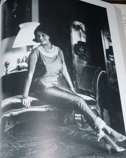 Irene Galitzine at her home in Rome