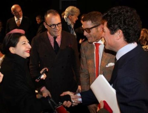 Me, Cesare Cunaccia, Lapo Elkann and Matteo Marzotto ( photo by Giorgio Miserendino, a young promising fashion blogger)