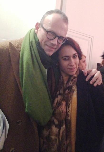 Cesare Cunaccia and Delfina Delettrez at the Emmeotto art gallery