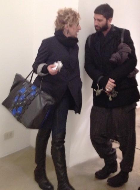 Ilaria Venturini Fendi and the art-dealer Maurizio Faraoni at the O Gallery