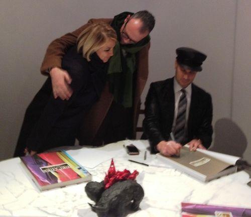 Silvia Venturini Fendi, Cesare Cunaccia and Cameron Silver who signs the book