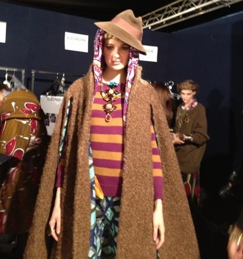 The backstage of Stella Jean fashion show