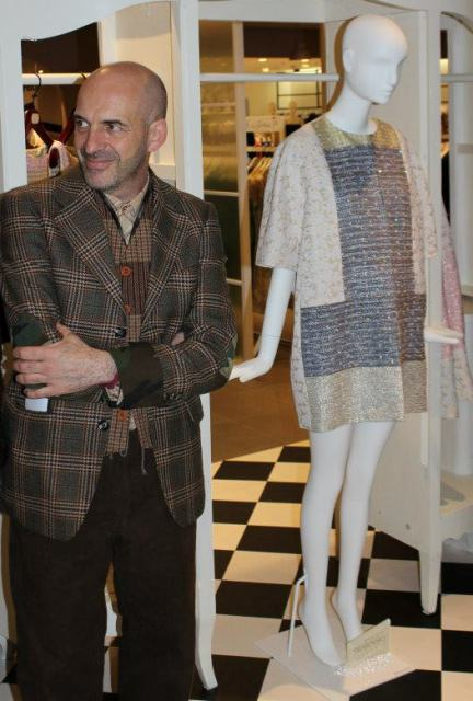 Antonio Marras along with a creation he made, photo by Giorgio Miserendino