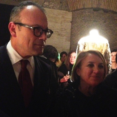 Cesare Cunaccia and Silvia Venturini Fendi at the Hadrian's Temple