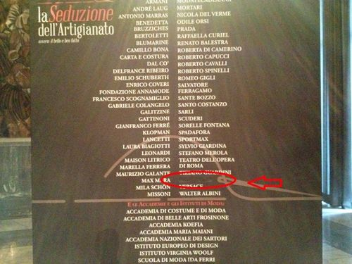 Looking at that you can see the name of Valentino has deleted instead the name of Versace is still there, but...