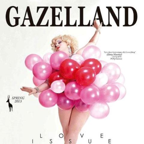 Dirty Martini on the cover of Gazelland, the Love issue, Spring 2013