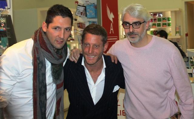 Marco Materazzi, Lapo Elkann and Lupo Lanzara, photo by Giorgio Miserendino