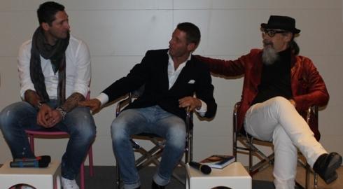 Marco Materazzi, Lapo Elkann, Roberto D' Agostino, photo by Giorgio Miserendino