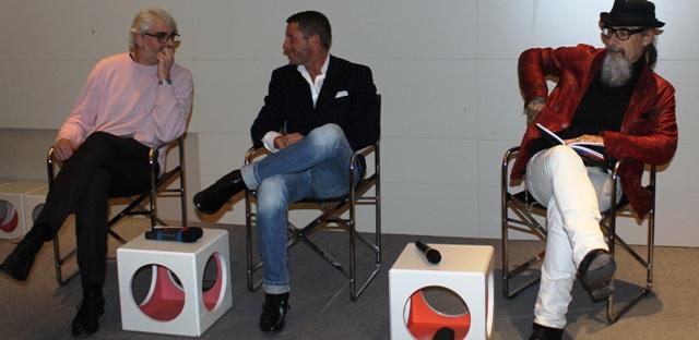 Lupo Lanzara, Lapo Elkann, Roberto D' Agostino, photo by Giorgio Miserendino