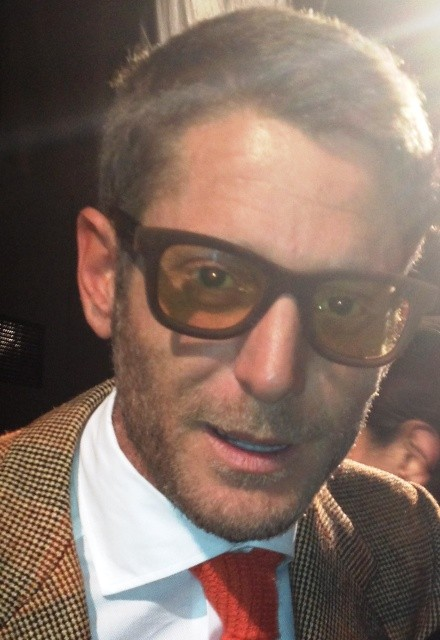 Lapo Elkann wearing the  catchy eyewear by Italia Independent the brand he established