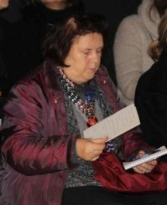 Suzy Menkes at the Marco De Vincenzo fashion show, photo by Giorgio Miserendino