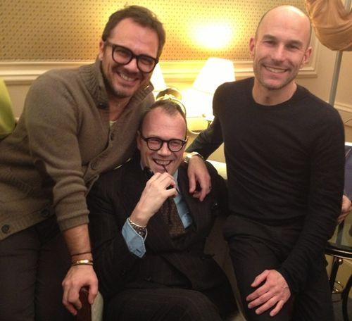 Friends: Massimiliano Battois, Cesare Cunaccia, Silvano Arnoldo