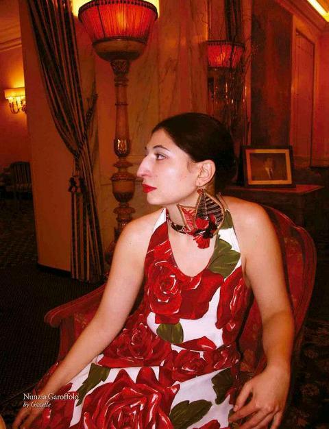 "Nunzia Garoffolo, photo by Gazelle accompanying the  piece ""B is for Beauty"" included in Gazelland magazine"