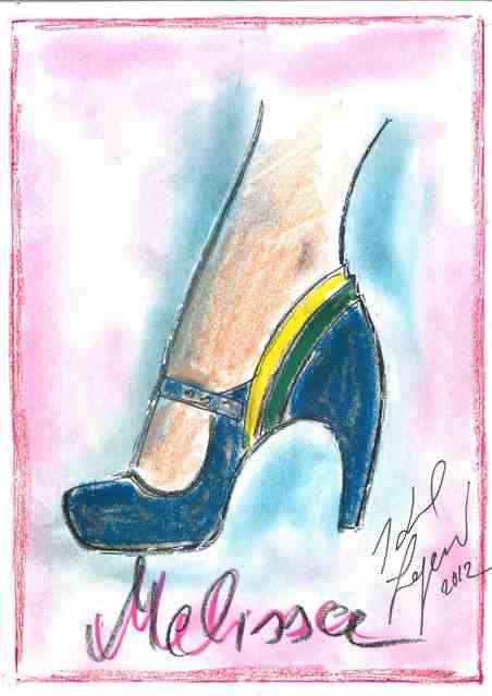 Melissa + Karl Lagerfeld, sketch by Karl Lagerfeld