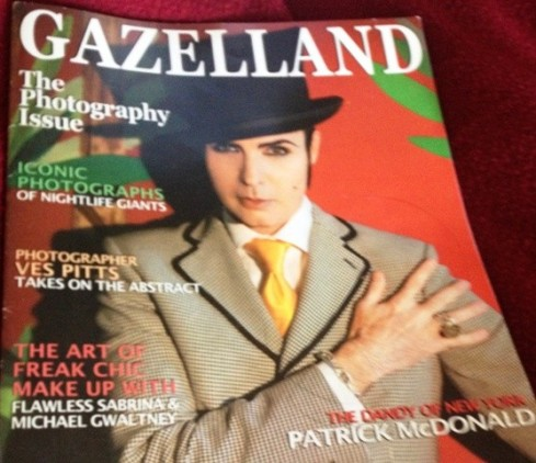 Patrick McDonald, the dandy of New York,  featuring in the Gazelland cover issue