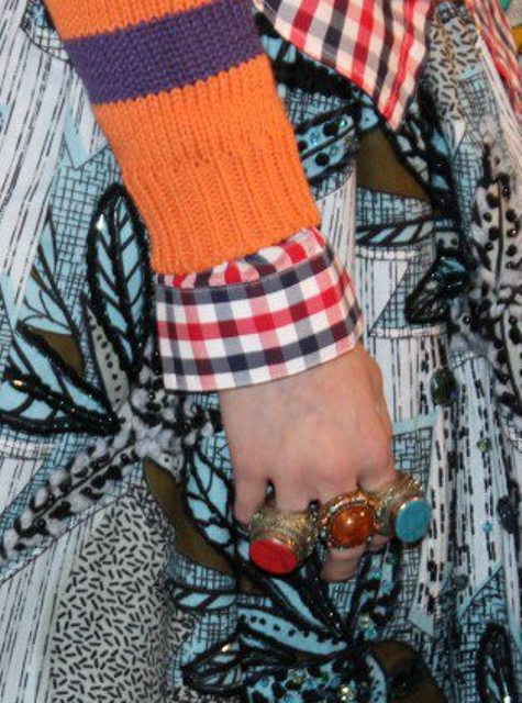 The catchy etno-chic jewelry featuring in the Stella Jean Fall//Winter 2013-2014 collection, photo by Giorgio Miserendino