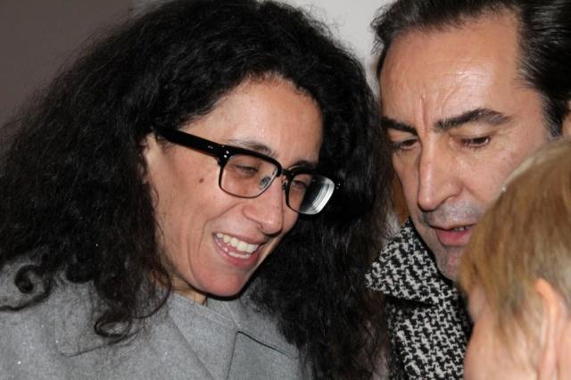 Sara Maino along Beppe Angiolini talking with Rosy Biffi, photo by Giorgio Miserendino