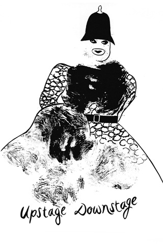 """""""Upstage Downstage"""", a portrait of Leigh Bowery by Donald Urquhart"""