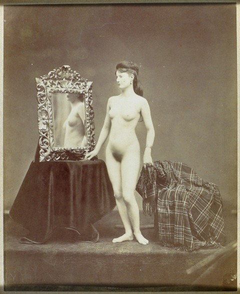 Nu au miroir, photo by Etienne Carjat, 1874