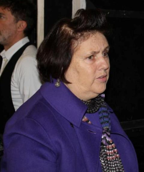 Suzy Menkes at the Trussardi fashion show, photo by Giorgio Miserendino