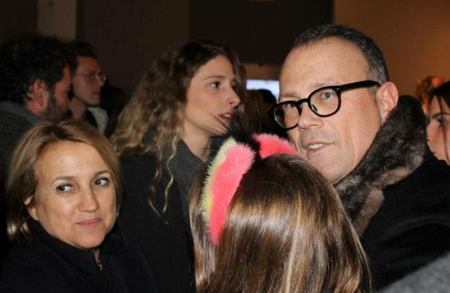 Slivia Venturini Fendi and Cesare Cunaccia in the crowd, photo by Giorgio Miserendino