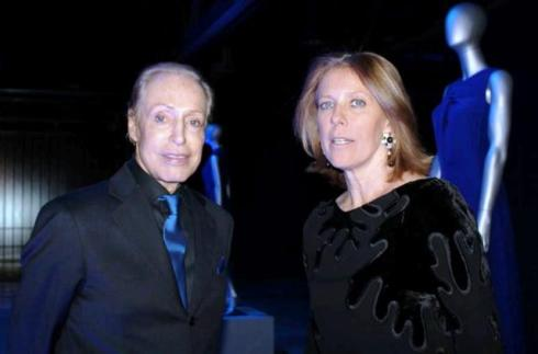 Renato Balestra and her daughter Fabiana, photo by Giorgio Miserendino