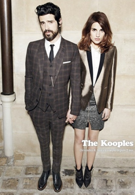 Devendra and Ana Kras featuring in the Fall/Winter 2012 look-book of The Kooples