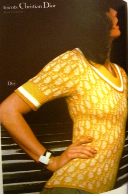 Christian Dior tricot, 1975, produced by Umberto Ginocchietti