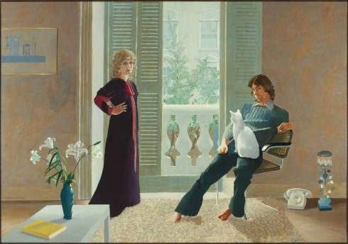 Mr and Mrs Clark and Percy by David Hockney, 1970, Tate Modern Gallery