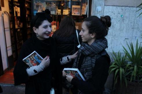 Caterina Gatta and me, photo by Giorgio Miserendino