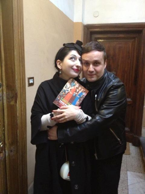 Happy Fashion! : Sylvio Giardina and me ready to go to the book-launch, photo by Raffaele Granato