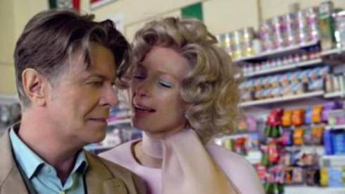 "David Bowie and Tilda Swinton, still image from ""The stars(are out tonight), by Floria Sigismondi"