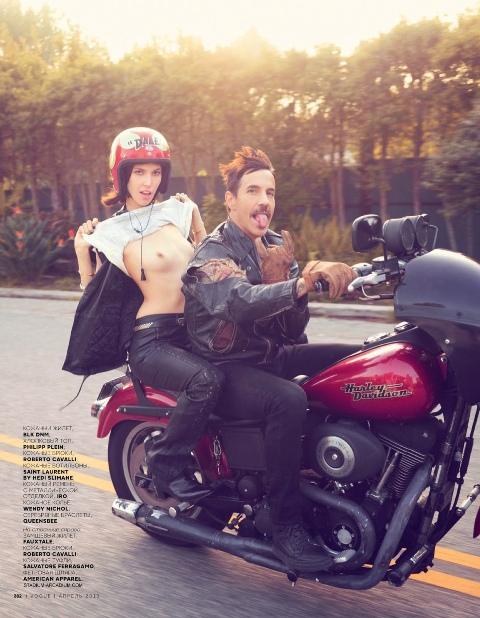 Anthony Kiedis and Ruby Aldridge, photo by David Mushegain
