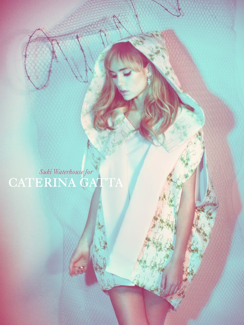 Suki Waterhouse wearing the Spring/Summer 2013 collection by Caterina Gatta