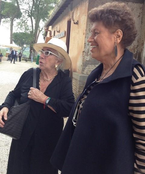 Lina Wertmuller and Carla Fendi