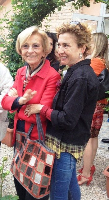Emma Bonino and Ilaria Venturini Fendi