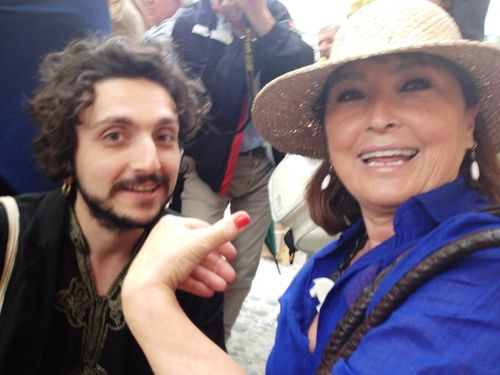 Emiliano Maggi and his mother