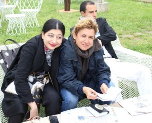 Ilaria Venturini Fendi and me, photo by Giorgio Miserendino