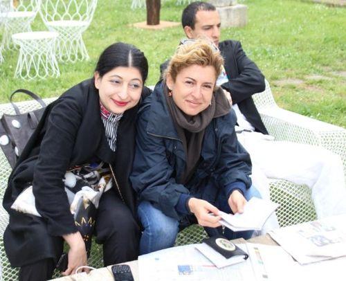 Ilaria Venturini Fendi and me, photo by Giorgio Miserendino