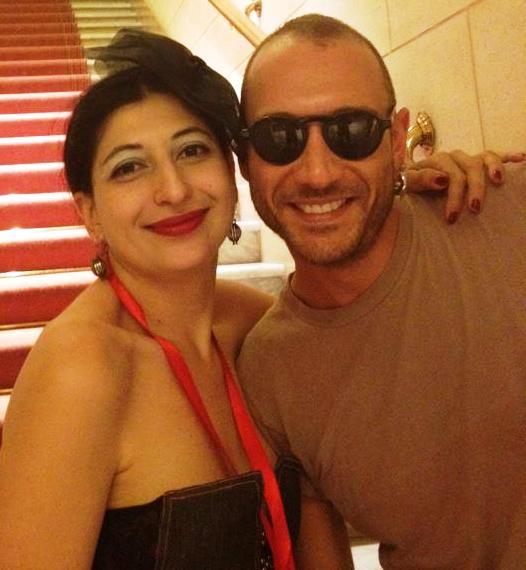 A joyful memory: Fabrizio & me during Altaroma