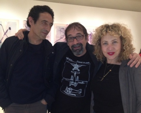 Emanuele Trevi, Iaia Forte and a friend