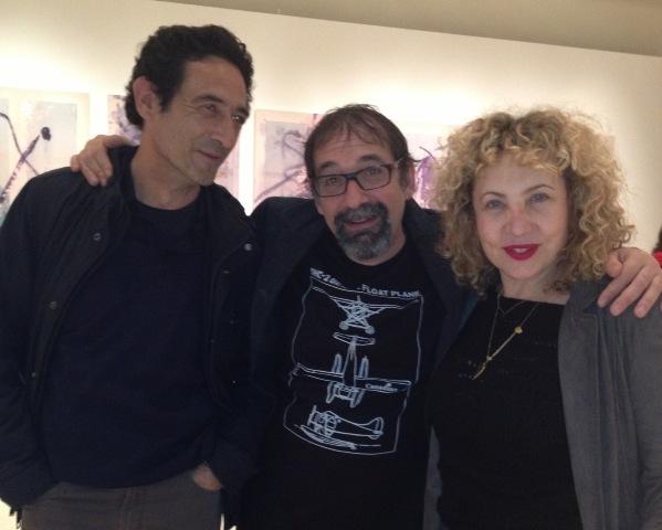Emanuele Trevi, Iaia Forte and a friend
